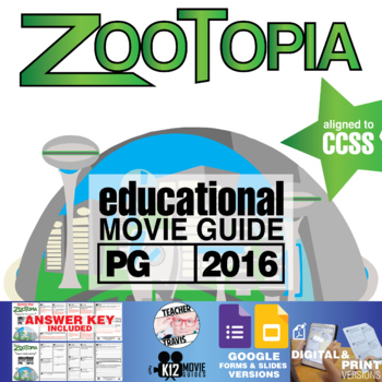 Zootopia Movie Guide | Questions | Worksheet (PG – 2016)
