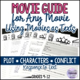 Movie Guide for Any Movie {Using Movies as Texts} (ESL/ELA/Special Ed)