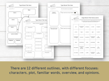 Movie Guides / Graphic Organizers for Spanish Classes