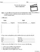 Movie Handouts for the Novel The Giver by Lois Lowry