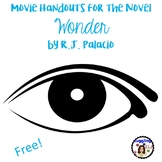 Movie Handouts for the Novel Wonder by R.J. Palacio (Free)