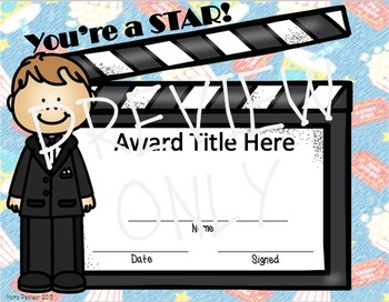 Movie/Hollywood End of the Year EDITABLE Awards