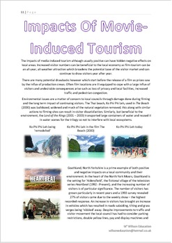 Geography And Media: Movie Induced Tourism