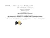 Movie Invitation for Novel Study or Literature Focus Unit