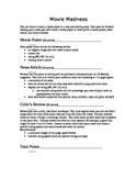 Movie Madness Book Report Guidelines Rubric Middle School Project