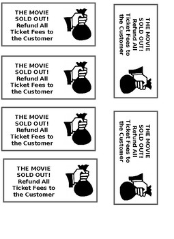 Movie Madness Math Activity EDITABLE