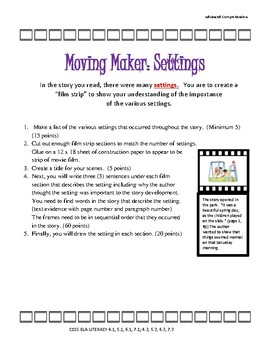 Setting or Characterization:Movie Maker