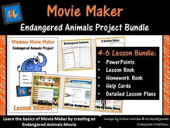 Movie Maker – Endangered Animals Project Bundle (ISTE 2016 Aligned)