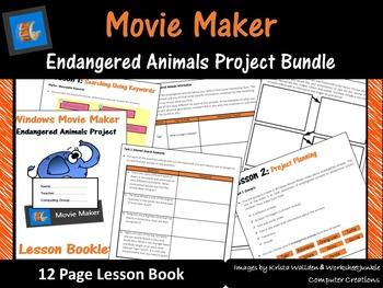 Movie Maker – Endangered Animals Project Work Book