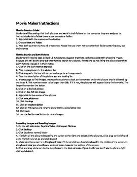 Movie Maker Lesson Plan