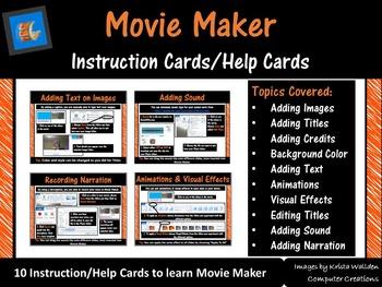 Movie Maker - Task Cards Instruction Cards