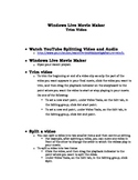 Movie Maker Trim and Audio Handout