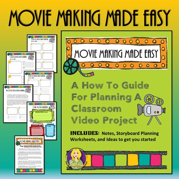 movie making made easy storyboards tpt