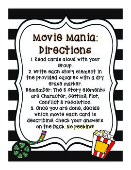 Movie Mania: Story Elements Game