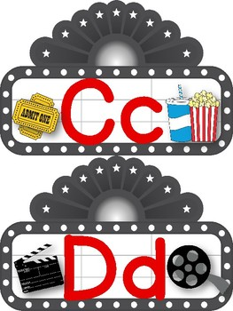 Movie Marquee Alphabet