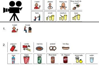 Movie Menu Communication Board