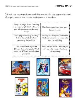 Movie Moral Match - Morals