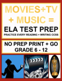 Movie, Music, Celebrity ELA Bundle: 38 CCSS-Aligned Video & TV-Viewing Prompts!