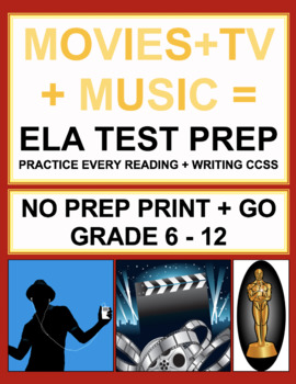 Movie, Music, Celebrity ELA Bundle: 38 CCSS-Aligned Video & TV-Viewing Prompts!