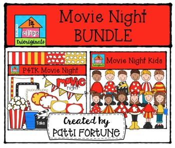 Movie Night BUNDLE {P4 Clips Trioriginals Digital Clip Art}