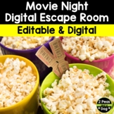 Movie Night Digital Escape Room | Distance Learning