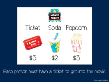 Movie Night: Making Choices with Money (Great for Google Classroom)