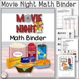 Movie Night Math Binder