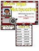 Movie Night Multiplication 8 Facts Third Grade Math File Folder Game
