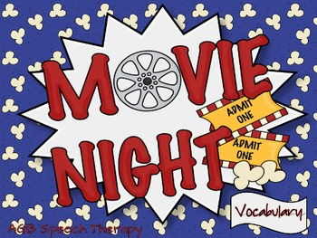 Movie Night Super Bundle for Speech Therapy
