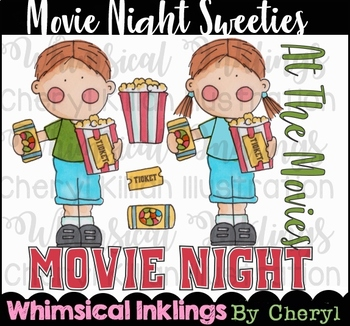 Movie Night Sweeties Clipart Collection