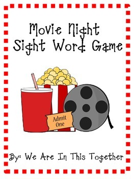 Movie Night Themed Sight Words - Pre-Primer