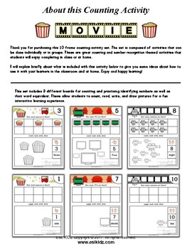 Movie Number Counting Activities