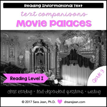 Movie Palaces • Reading Comprehension Passages and Questions • RL I