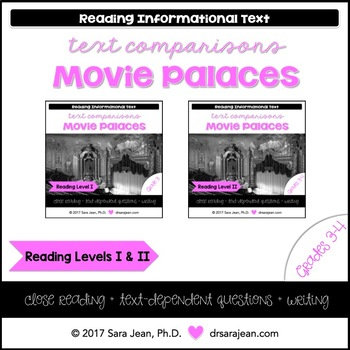 Movie Palaces • Reading Comprehension Passages and Questions • RL I & II