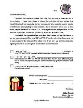 Movie Permission Form