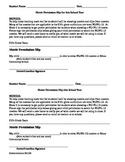 Movie Permission slips