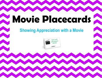 Movie Placecards