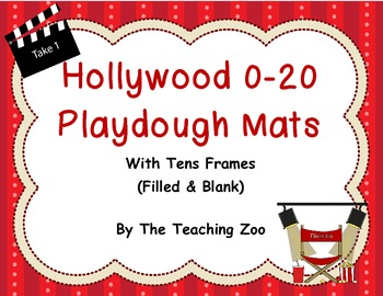 Play dough mats- Numbers 0-20 with differentiated  tens frames {Movie theme}
