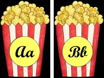 Movie Popcorn Alphabet