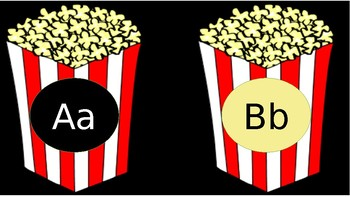 Movie Popcorn Alphabet