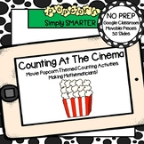 Movie Popcorn Themed Counting (1-30) Activities For GOOGLE CLASSROOM
