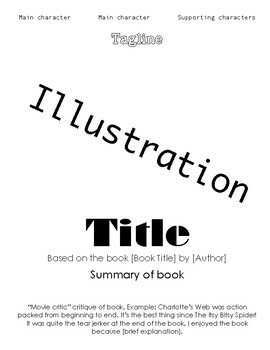 Movie Poster Book Report