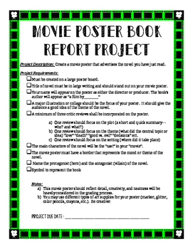 Movie Poster Book Report Project
