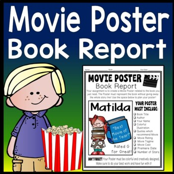 Movie Poster Book Report: Students love this Movie Poster ...