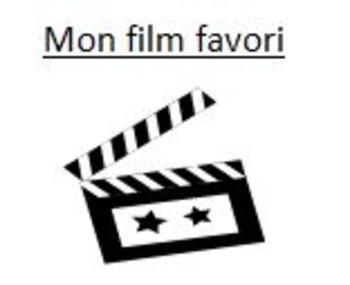Movie Project & Poster: MON FILM FAVORI
