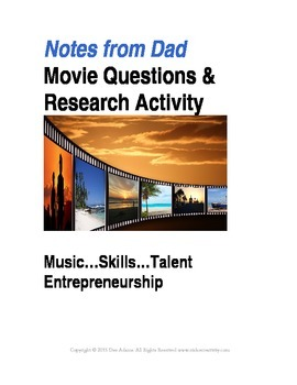 Movie Lessons: Musicians And Career Path Choices:Printable Q and A