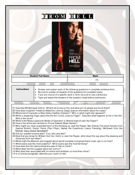 Movie Questions - From Hell