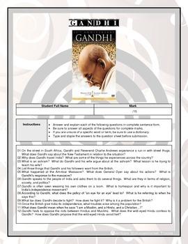 Movie Questions - Gandhi