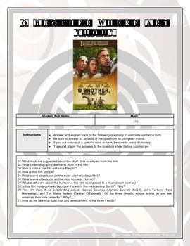 Movie Questions - O Brother, Where Art Thou?