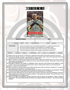 Movie Questions - Romero